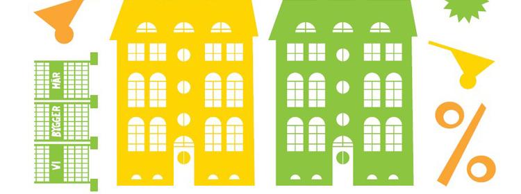 Tecknad bild på hus