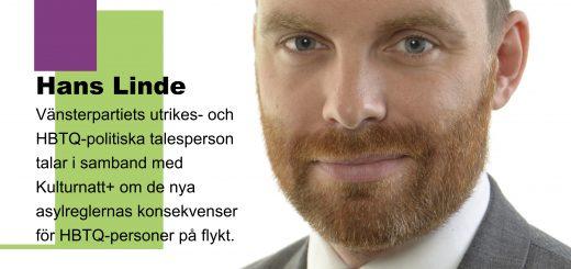 Hans Linde + information om när och var han talar i Halmstad