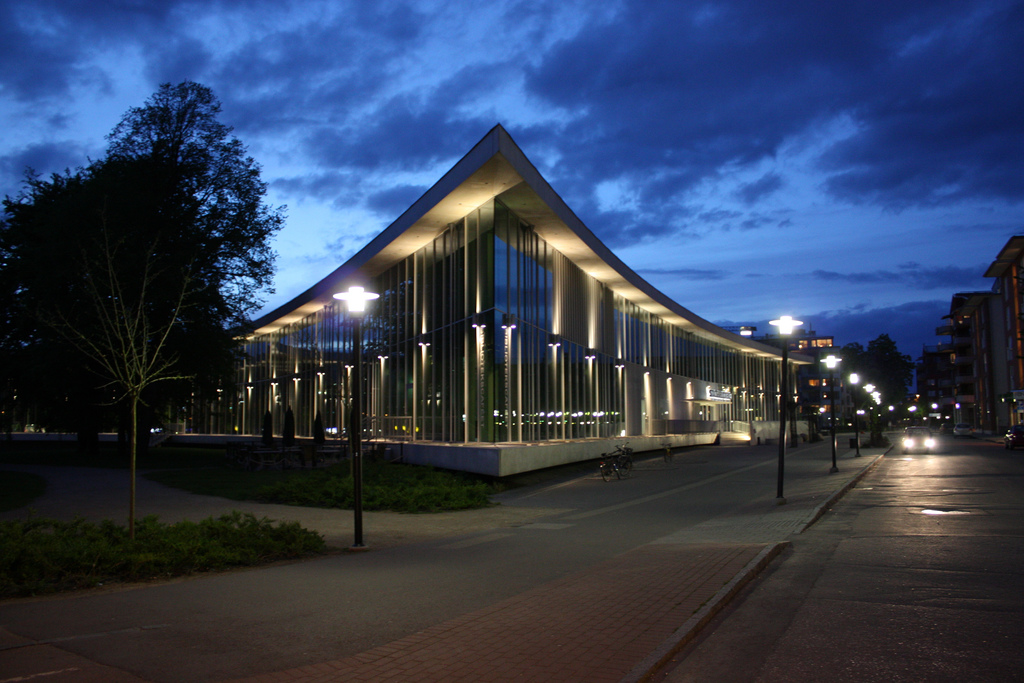 Halmstad bibliotek i mörkret
